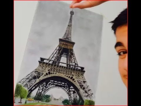 480x360 Drawing The Eiffel Tower Emre