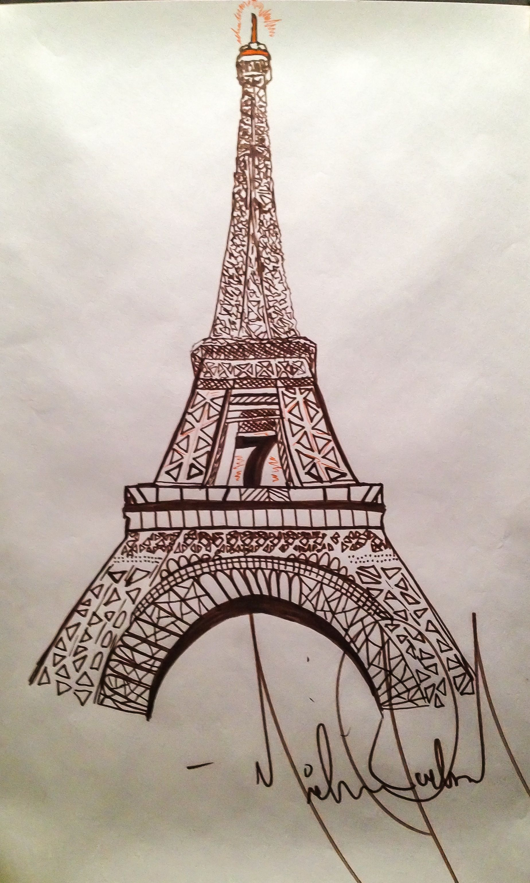 1848x3079 Drawing of the Eiffel Tower by Michael Jackson The Michael