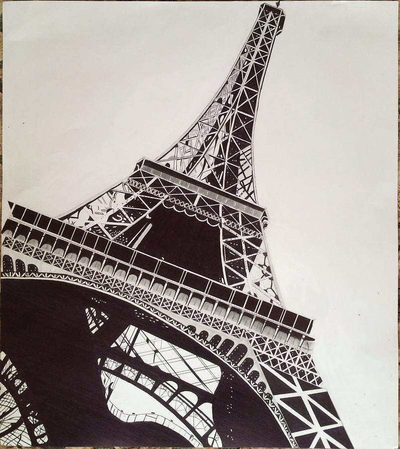 803x900 Eiffel Tower Drawing By Ryan Jirjis