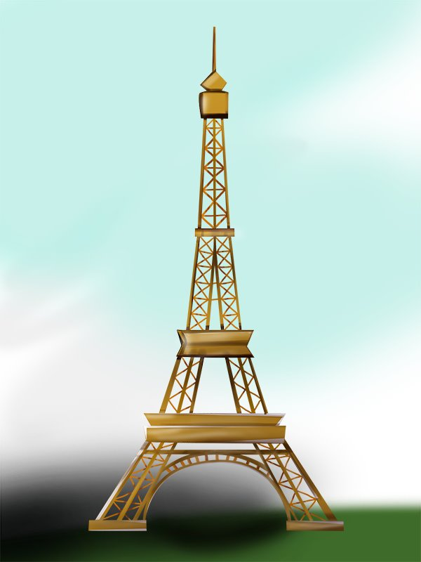 600x800 Learn How To Draw An Eiffel Tower (Wonders Of The World) Step By