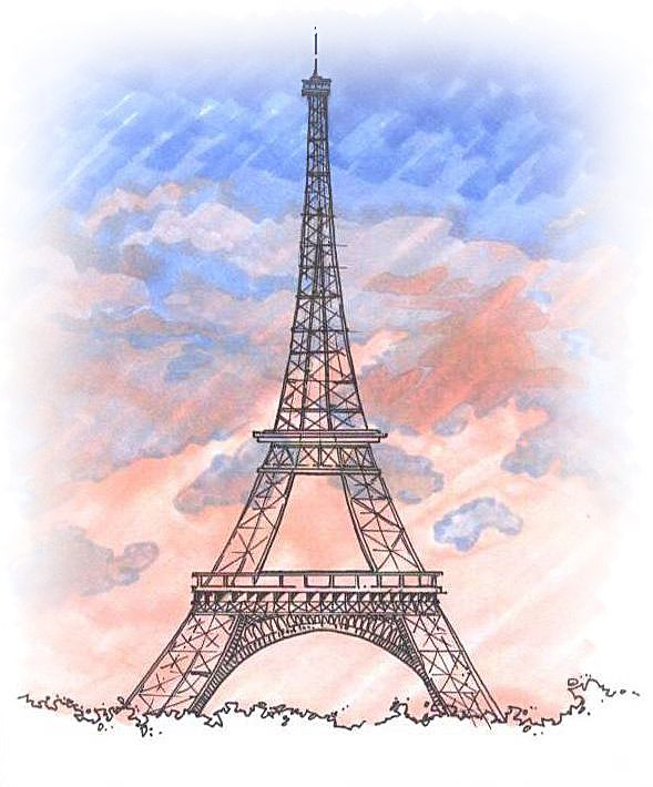 589x710 eiffel tower drawings sketches Personal Sketches Hand