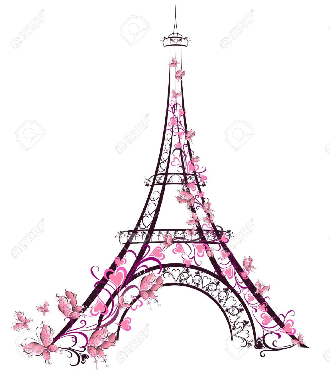 1158x1300 10,139 Eiffel Tower Stock Vector Illustration And Royalty Free