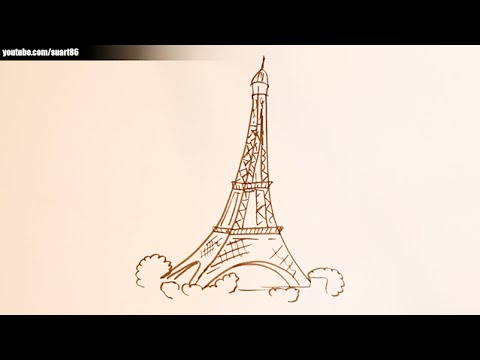 480x360 How To Draw Eiffel Tower Easy