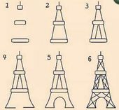 170x157 Learn How To Draw The Eiffel Tower Easy Step By Step Drawing