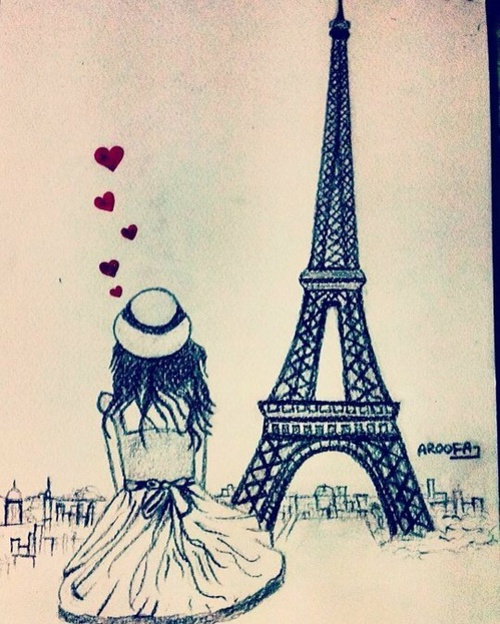 Eiffel tower drawing pictures at getdrawings free for personal 500x624 girl in front of eiffel tower on we heart it thecheapjerseys Gallery
