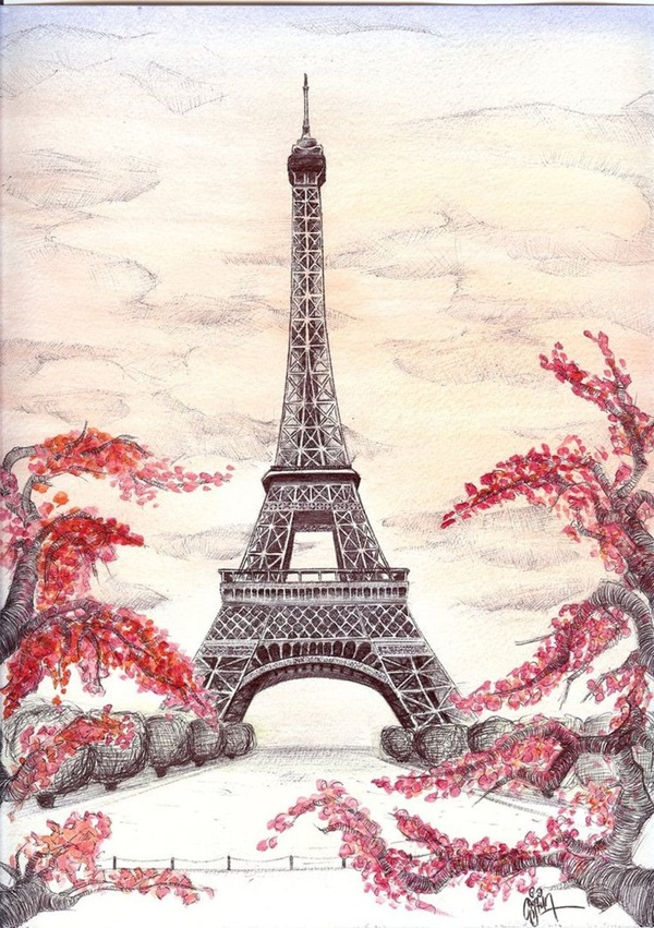 Eiffel Tower Drawing Simple At Getdrawings Com Free For Personal