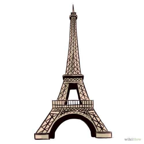500x500 draw the eiffel tower tower drawings and sketch painting