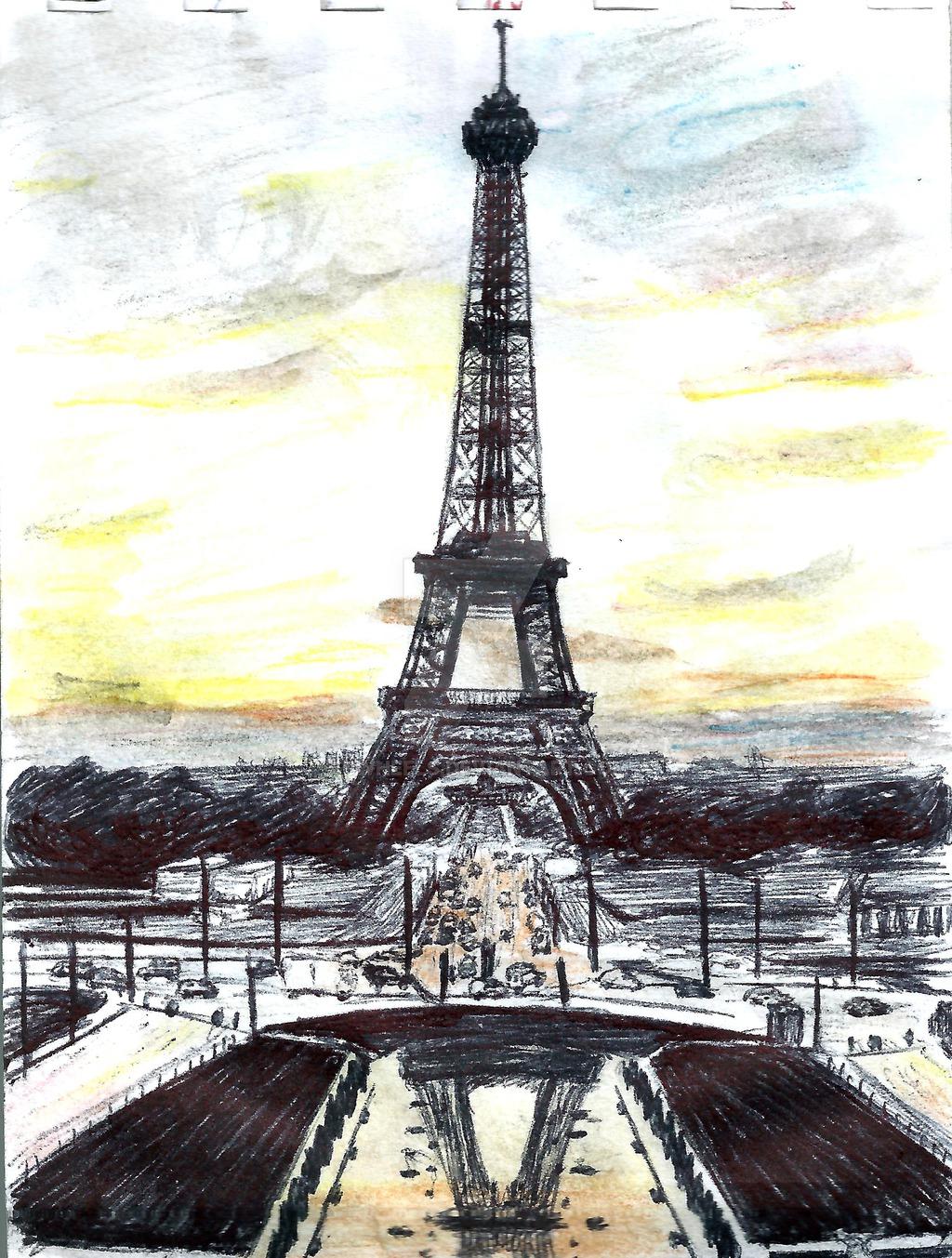 1024x1353 Eiffel Tower By Dwheels