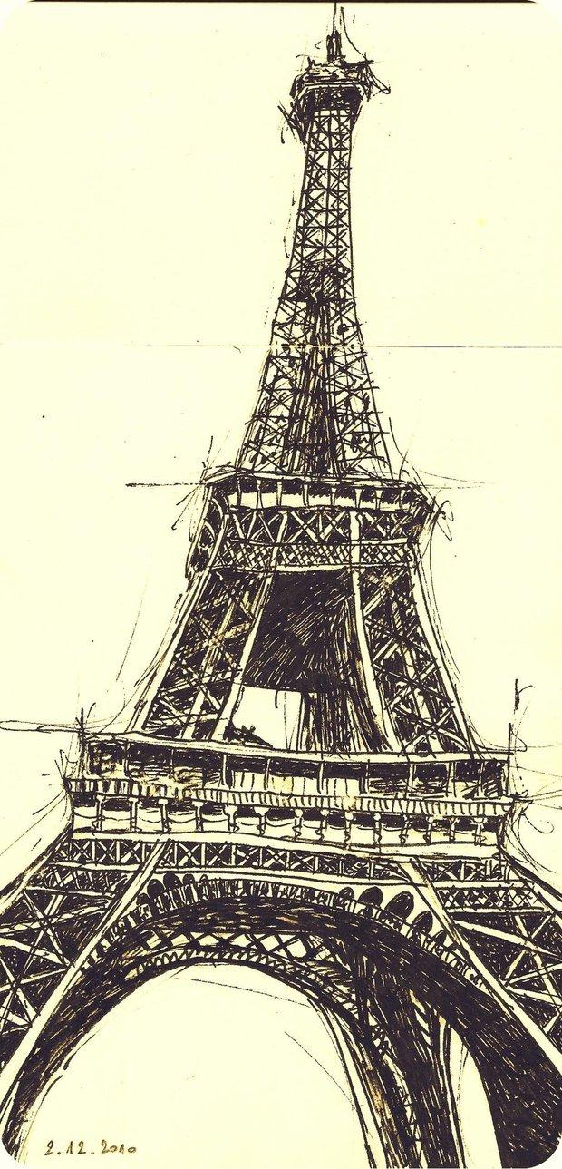 620x1289 Eiffel Tower By Maiamaiaa