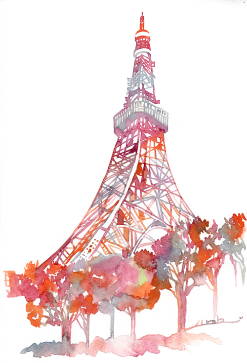 500x735 Watercolor Of Paris Wedding Inspiration. So Dreamy. Via Lareveusee