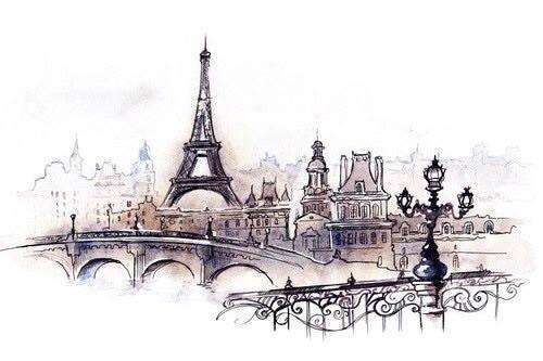 500x333 Eiffel Tower Sketch Tumblr