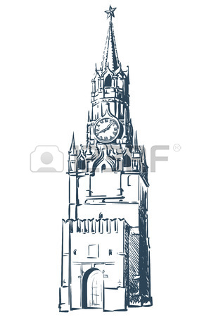300x450 Eiffel Tower Drawn In A Simple Sketch Style. Isolated Contour