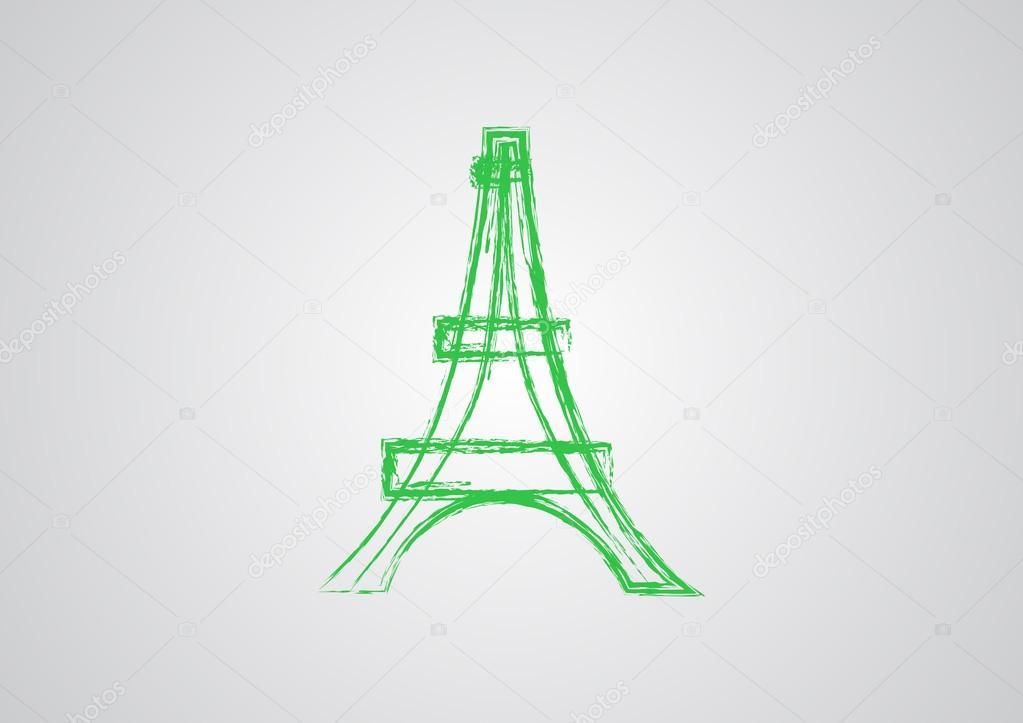 1023x723 Eiffel Tower Simple Web Icon Stock Vector Lovart
