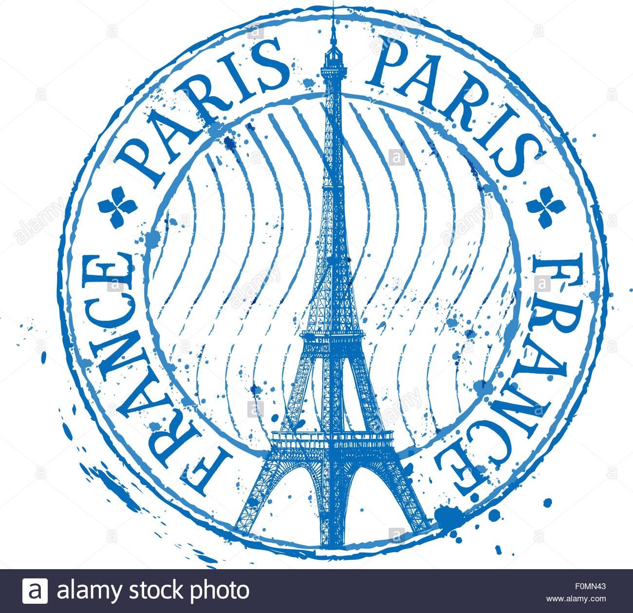1300x1258 Paris Vector Logo Design Template. Eiffel Tower Drawn In A Simple