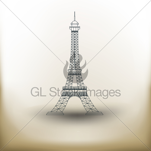 500x500 Pictogram Eiffel Tower Gl Stock Images
