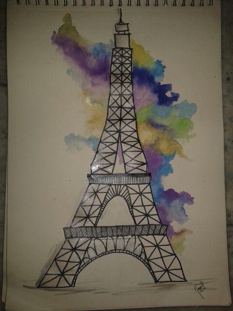 480x640 Eiffel Tower .!!!simple Easy N Awesome Diy Paintings
