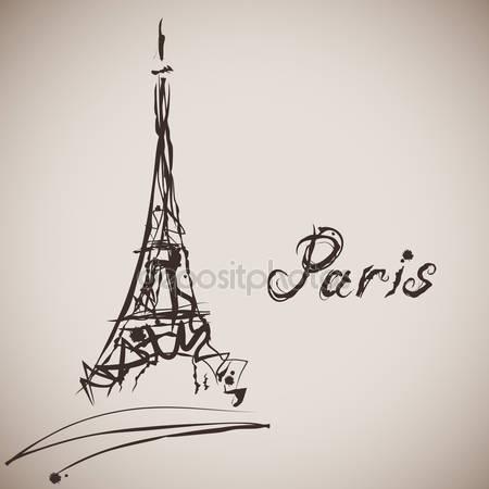 450x450 Vector Illustration Of Paris, The Eiffel Tower Stock Vector