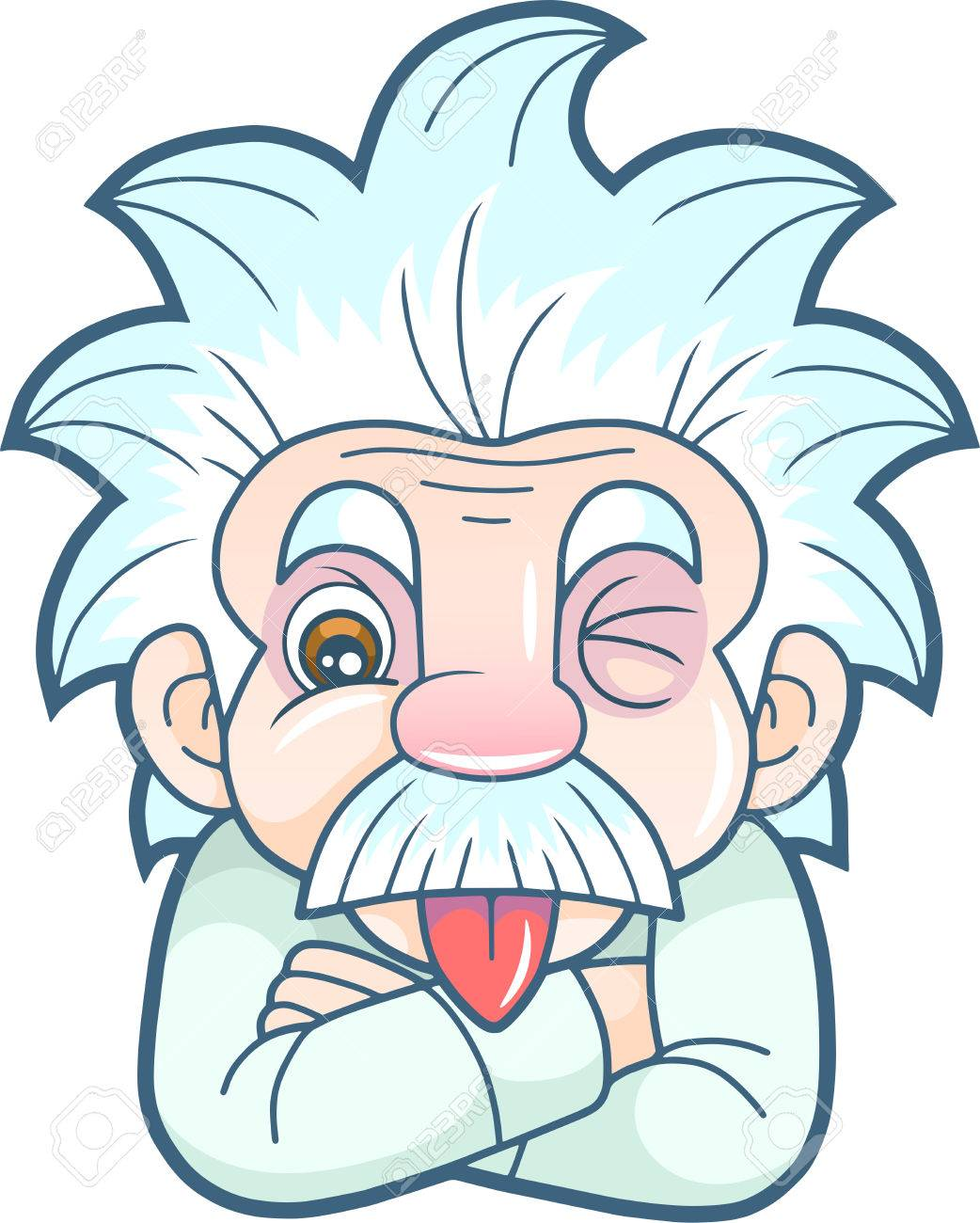 1042x1300 Cartoon Funny Einstein Shows His Tongue Royalty Free Cliparts