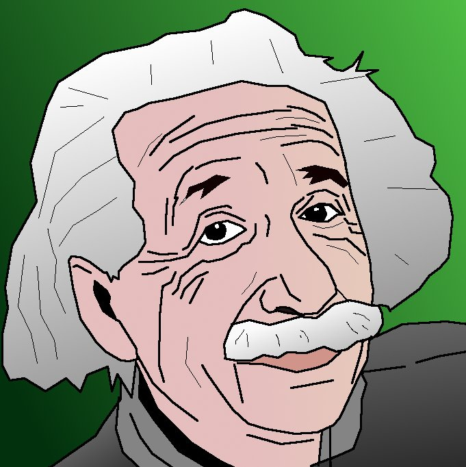 681x682 Albert Einstein Cartoon Drawing I Was Trying To Be Smart