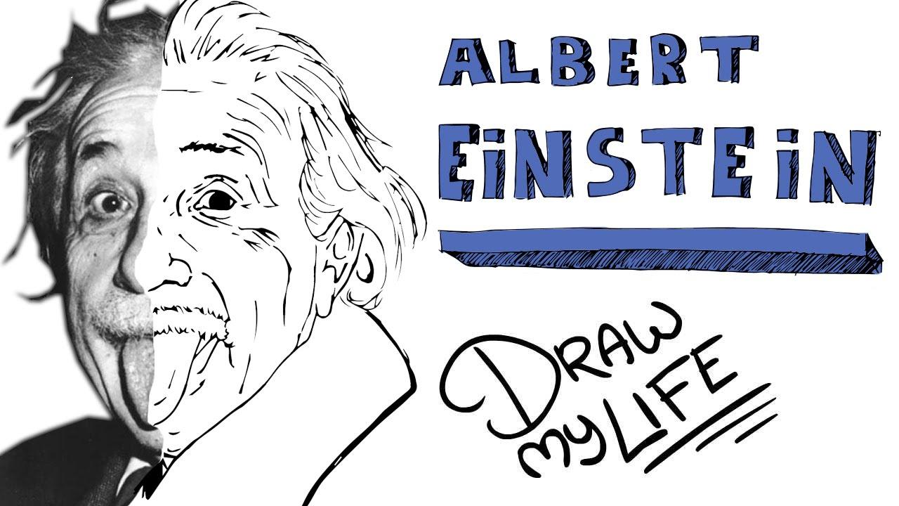 1280x720 Albert Einstein Drawing Albert Einstein Draw My Life