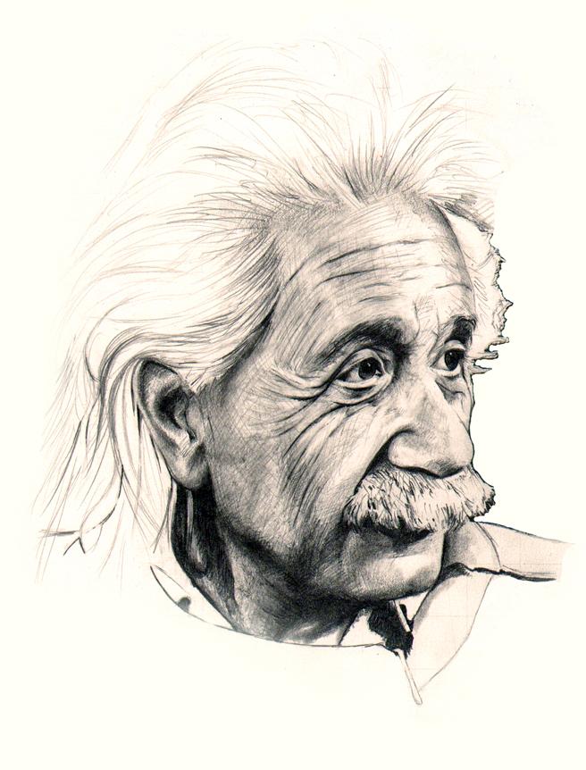 656x862 Albert Einstein By Jimbo101