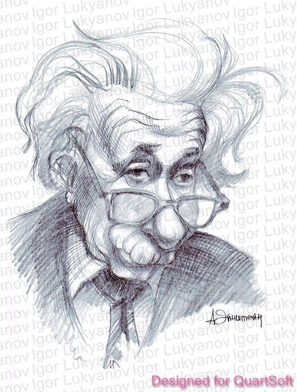 600x791 Einstein Cartoon By Lui Freelancer