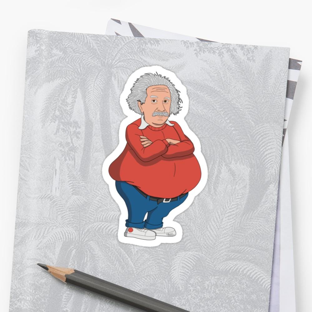 1000x1000 Fat Albert Einstein Stickers By Eddie Mauldin Redbubble