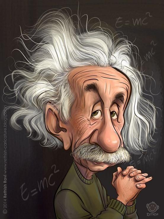 554x738 Rethish Ravi My Albert Einstein Karikatur Albert