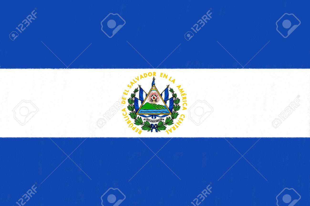 1300x866 El Salvador Flag Drawing By Pastel On Charcoal Paper Stock Photo