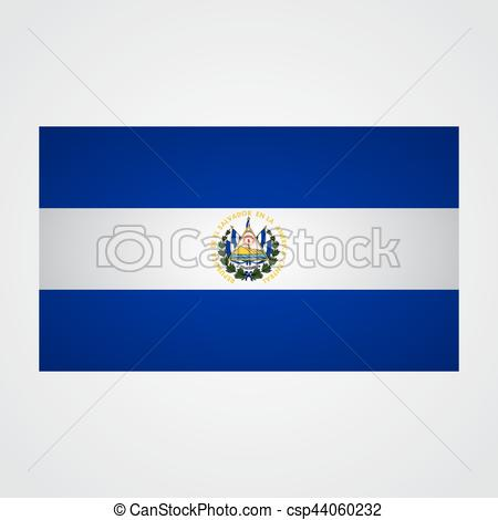 450x470 El Salvador Flag On A Gray Background. Vector Illustration Vectors