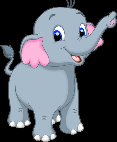 412x500 Cartoon elephant vector (12) [преобразованный].png Elephant ช้าง
