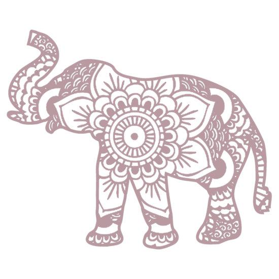 550x550 Mandala Elephant Lilac by laurauroraa Stickers Pinterest