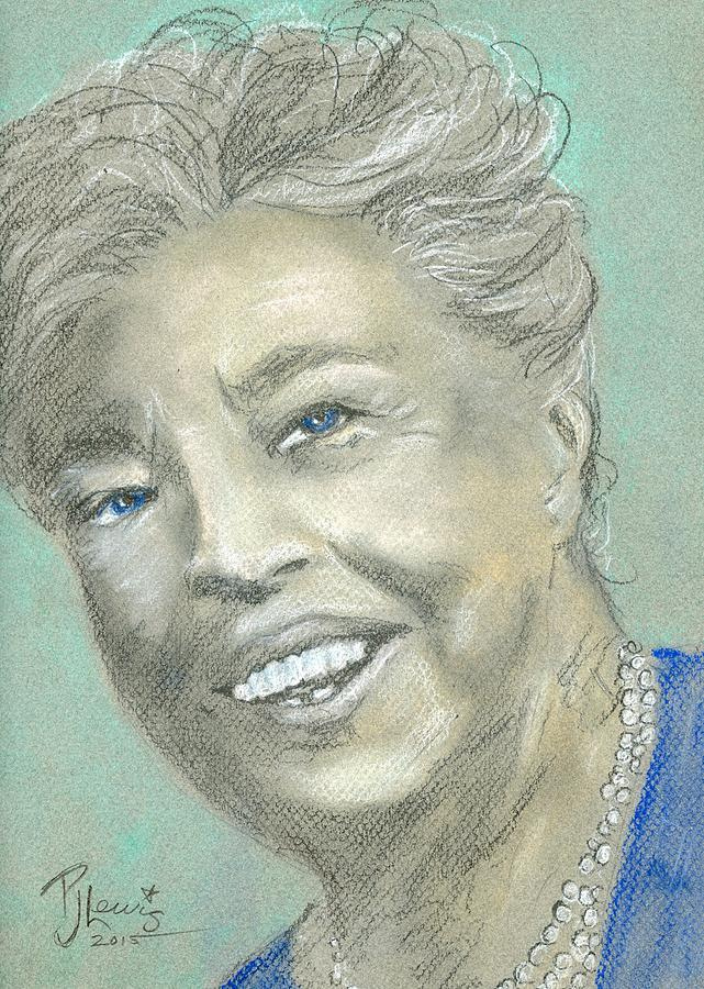 641x900 Eleanor Roosevelt Drawing By Pj Lewis