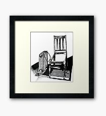 210x230 Electric Chair Drawing Wall Art Redbubble