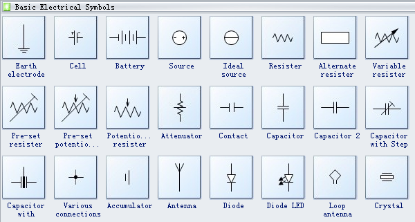 Electrical symbols drawing at getdrawings free for personal 600x321 creating a basic electrical diagram electrical drawing symbols ccuart Choice Image