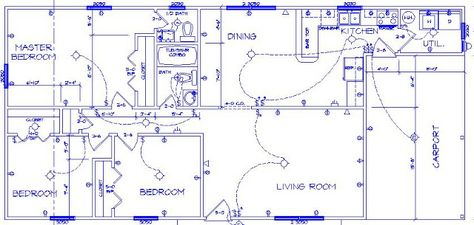 Electrical symbols drawing at free for for Residential electrical blueprints