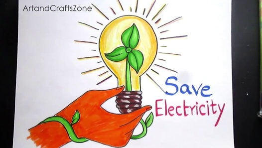 526x297 How To Draw Save Electricity Save Energy Drawing For Kids Step