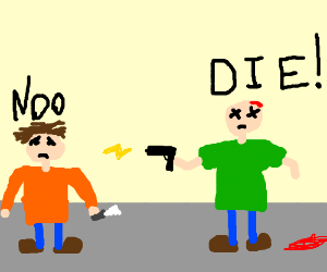300x250 Dead Guy Shooting A Guy With Electricity