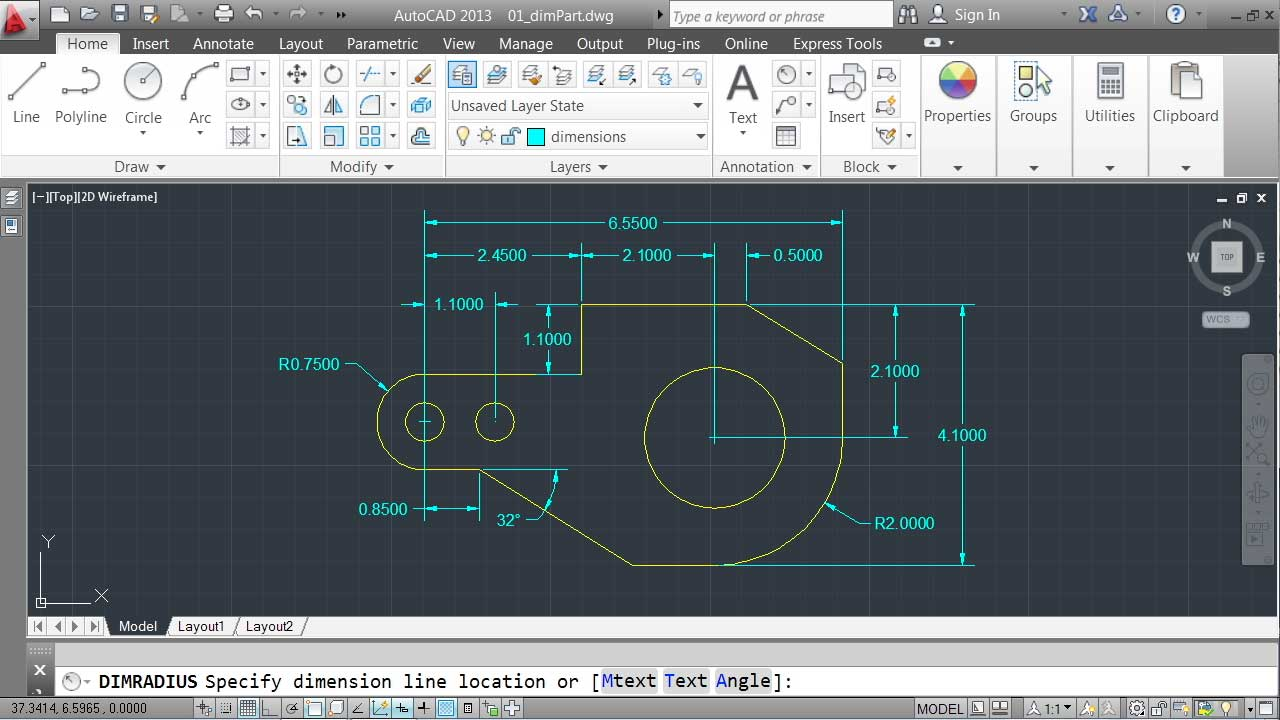 1280x720 Autocad 2013 Essential Training 4 Annotating A Drawing