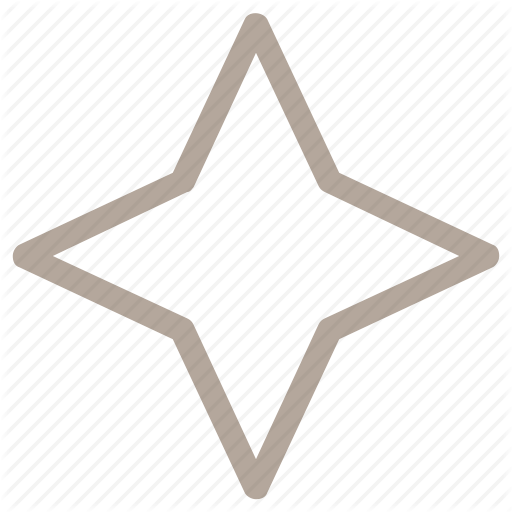 512x512 Decorative Element, Drawing, Four Pointed Star, Graphic Design