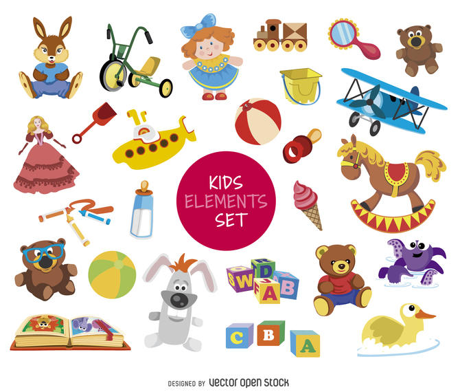 670x570 Kid Element Drawing Set