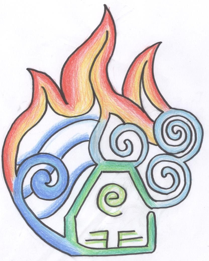 832x1040 The Four Elements By Whispering Waters On Drawing