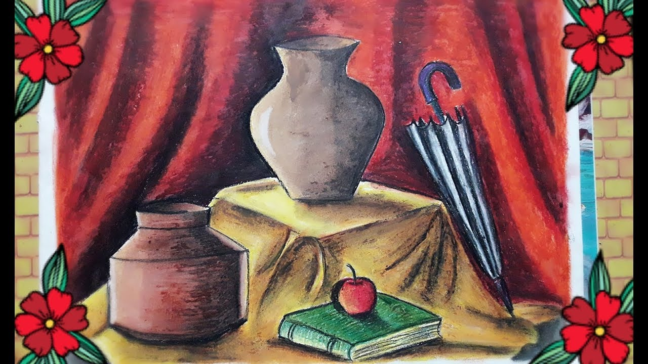 1280x720 Still Life With Oil Pastel For Elementary And Intermediate