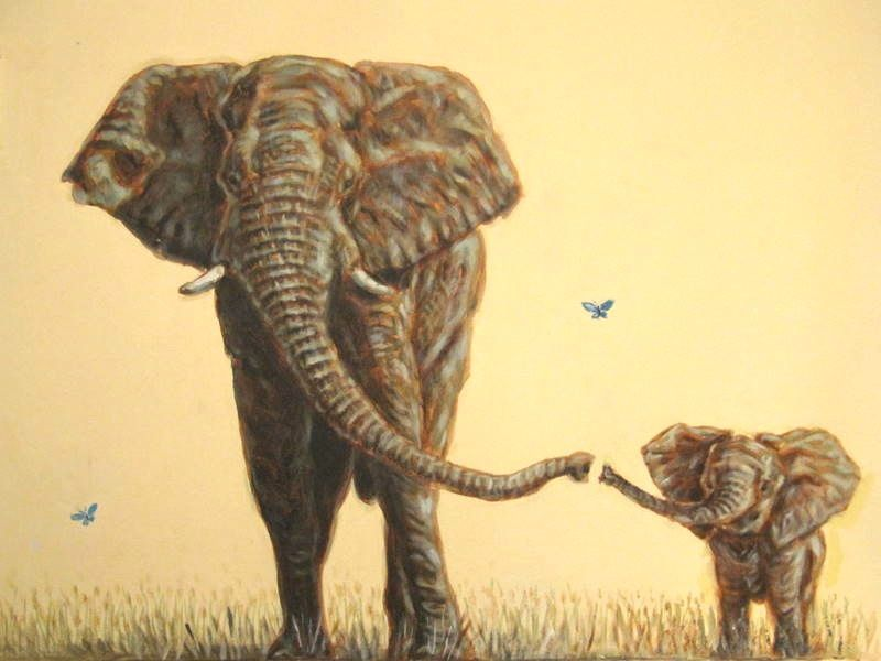 800x600 Amazingly Detailed Wildlife Drawings For Conservation Elephants