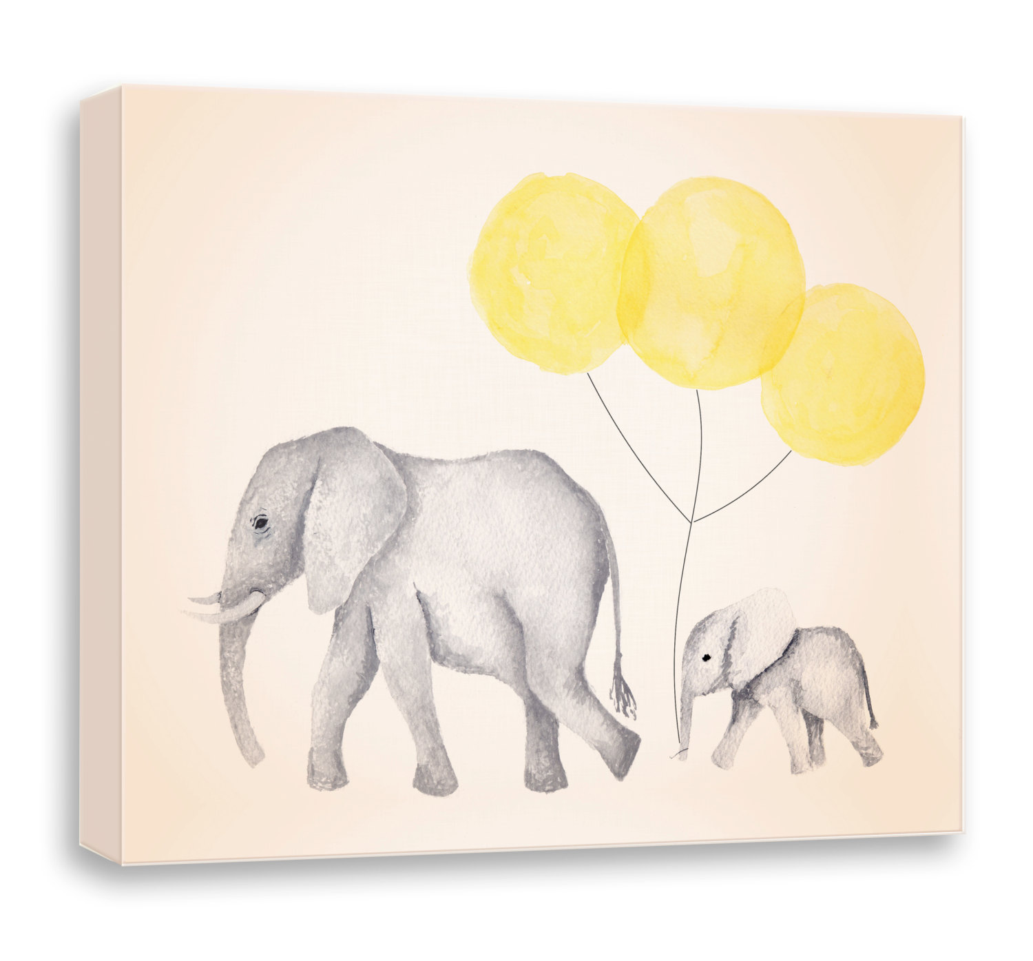 1500x1395 Yellow And Gray Nursery Art Canvas Art Art For Children