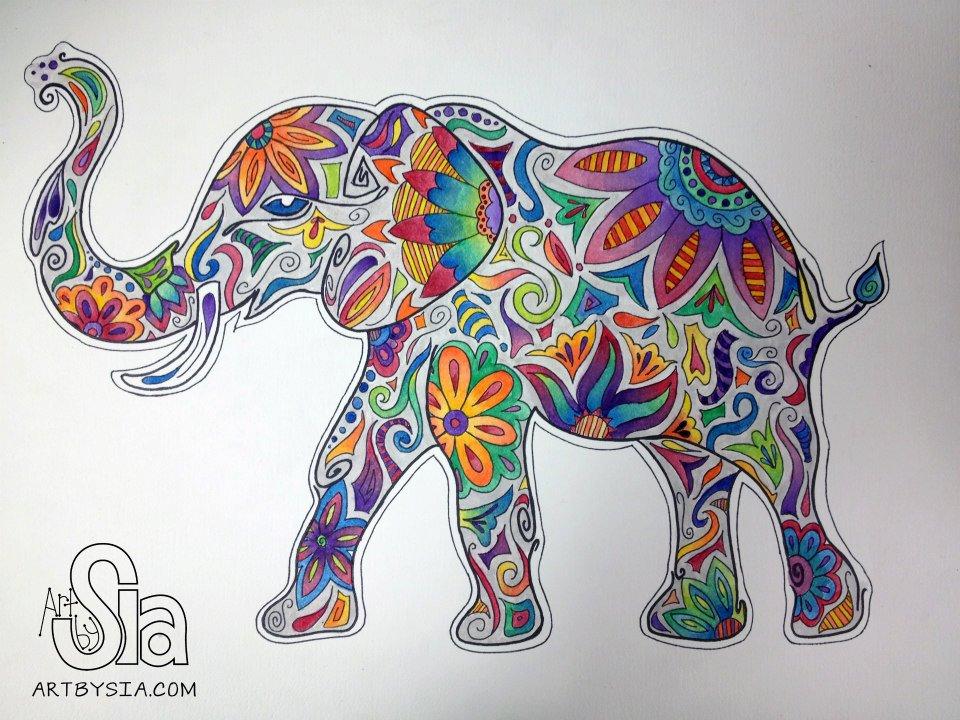960x720 Watercolor Elephant, 2012 @ Art By Sia