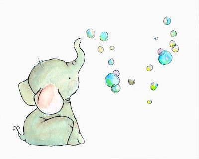 400x320 Baby Elephant Baby Shower Png
