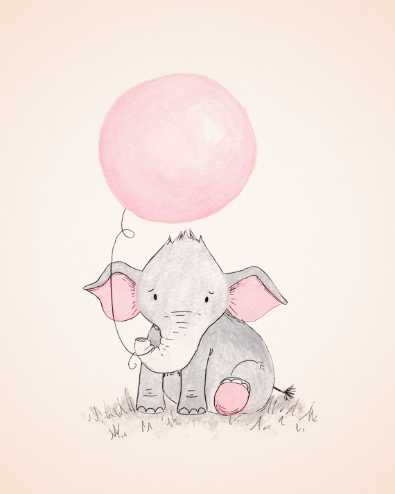 Baby Room Drawing: Elephant Balloon Drawing At GetDrawings