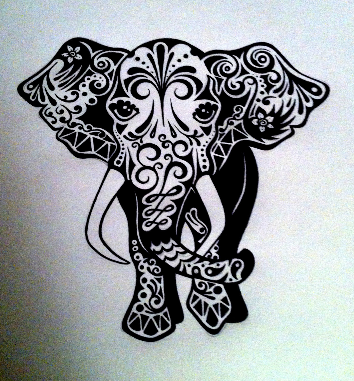 1396x1500 Custom Elephant Ink Drawing Black Amp White Commissioned By Tarren