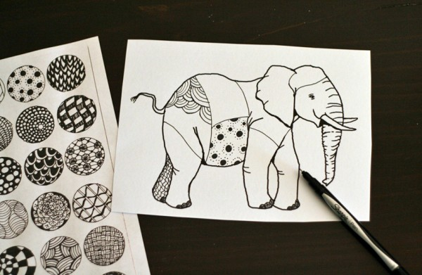 600x391 Drawing Zentangle Elephants Make And Takes